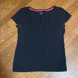 Black exercise shirt